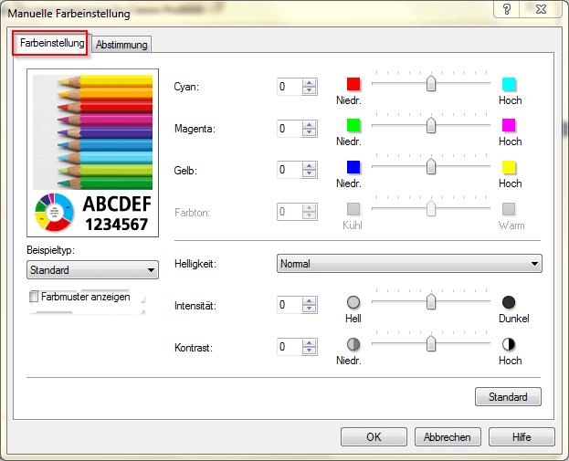 01 Blasse Farben Canon Drucker richtig einstellen