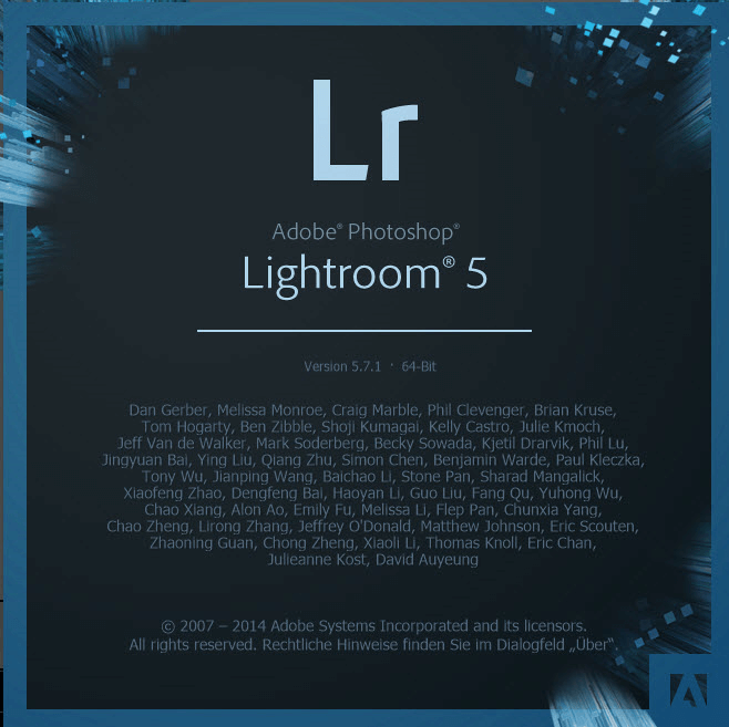 01 Adobe Lightroom Programm starten