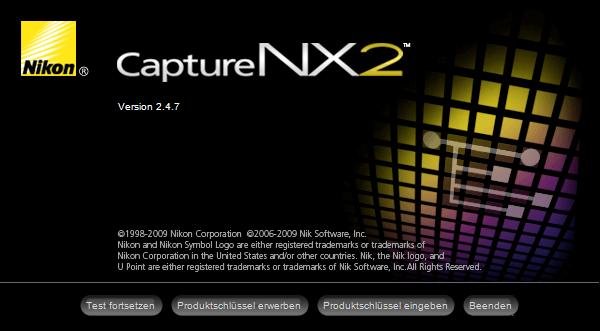 01 Nikon Capture NX2 Starten