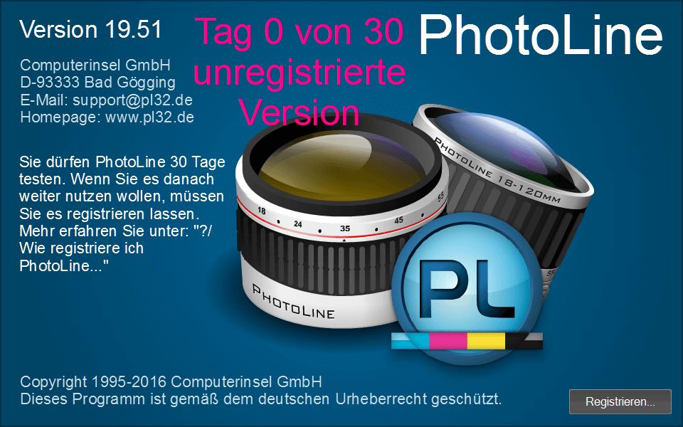 01 PhotoLine Programm starten