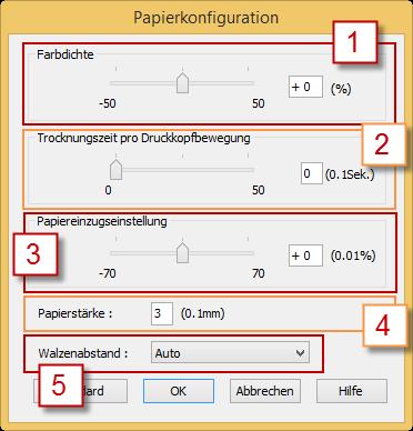 Papierkonfiguration