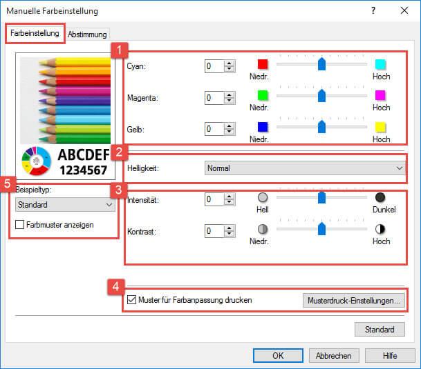 Canon Pixma iP 7200_7250 Optionen_Manuelle Farbeinstellung _Farbeinstellung