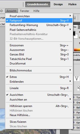 Softproof im Adobe Photoshop CS6 und CS5 einrichten
