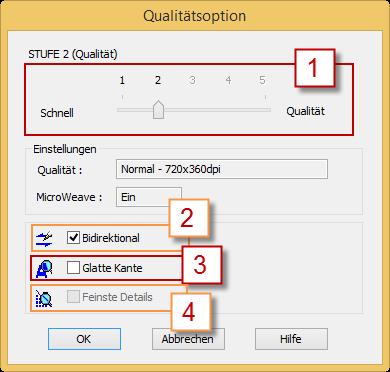 Qualitätsoption des Epson Stylus Pro 3880
