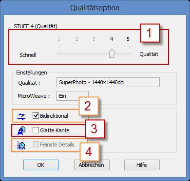 Qualitätsoption des Epson Stylus Photo R3000