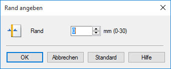 Canon iX 6800 6850 Seite einrichten Rand angeben