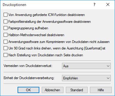 Canon Pixma iP 7200_7250 Seite einrichten_Druckoptionen