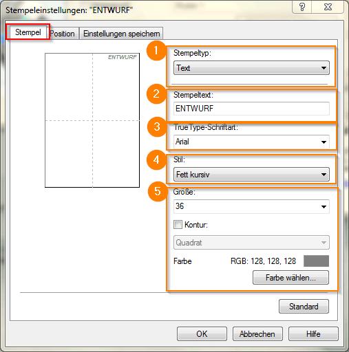 Canon Pixma Pro 10 Seite einrichten_Stempeleinstellungen_Stempel