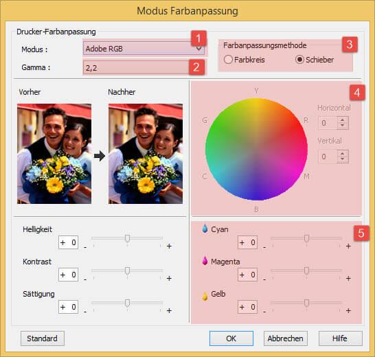 EPSON Drucker Farbmanagement-Farbanpassung