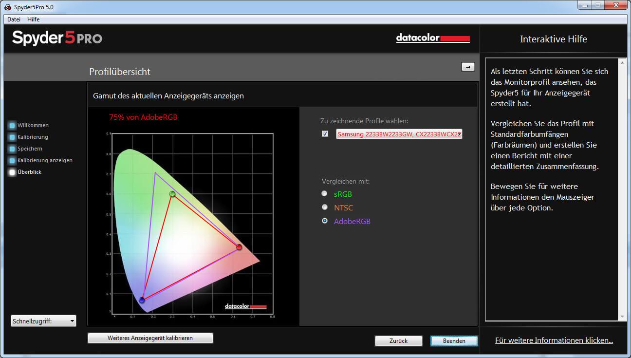 26 Gamutkurve AdobeRGB Spyder 5 Pro