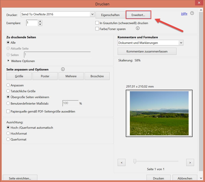 Datei drucken in Adobe Photoshop CC